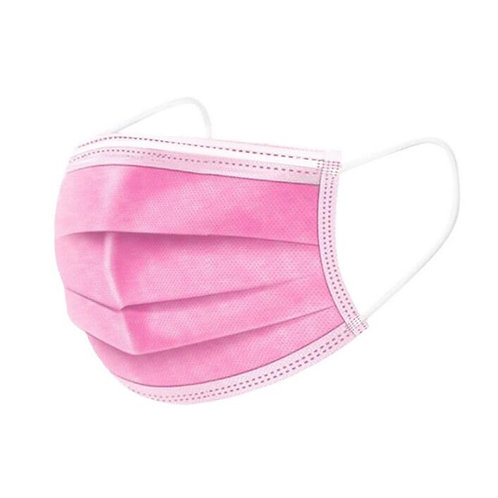 Pink  50pcs 3-Layer Face Mask