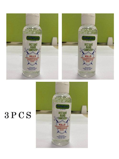 3PCS safetyes hand sanitizer 100ml