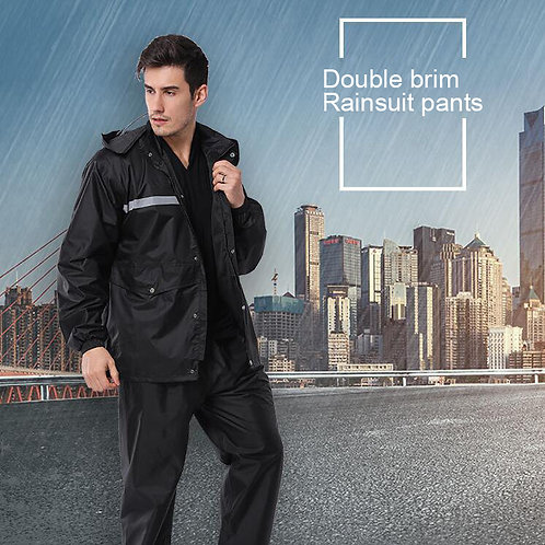 Double Layer Thickened Protective Raincoat