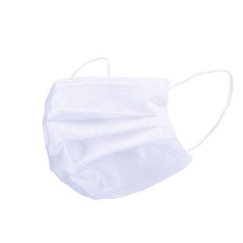 White 50pcs 3-Layer Face Mask