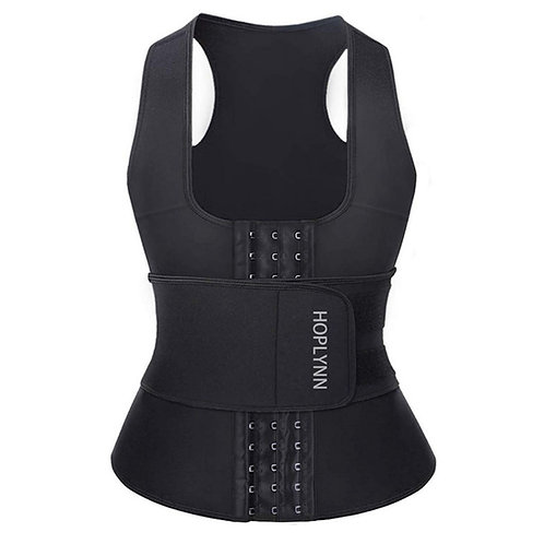 Inside breasted vest shaping elastic corset