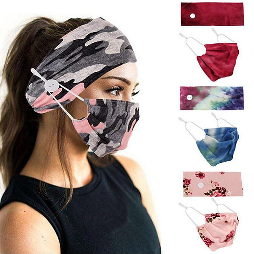 Button Hair Band Mask Suit