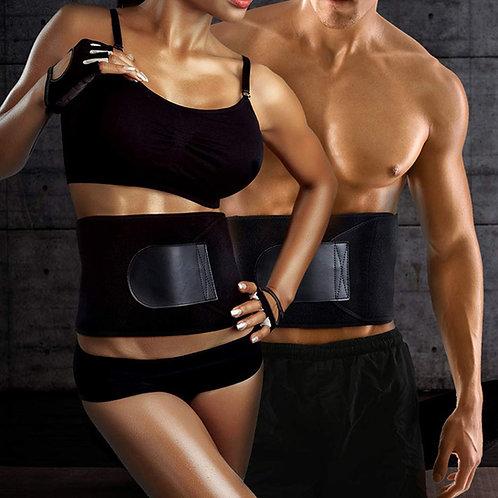 Adjustable sweat waist color fitness belt