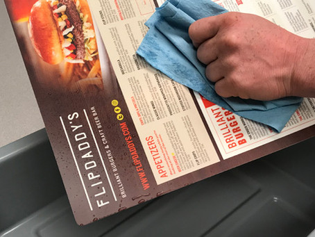 Disposable Menus, Washable Menus or Even Pop-up Distancing Walls