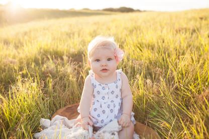 Asheville baby milestone photography