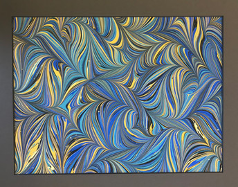 Blue Dream 12x18 Ebru (Framed_glass)
