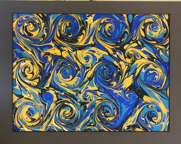 Blue Nightingale 12x18 Ebru