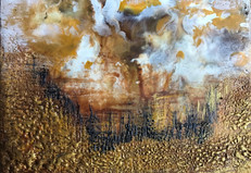 Mountains_ Encaustic