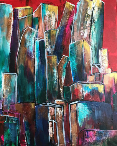 Red City_16x20_Acrylics