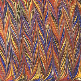 Earth Element_10x10 Ebru art with Resin