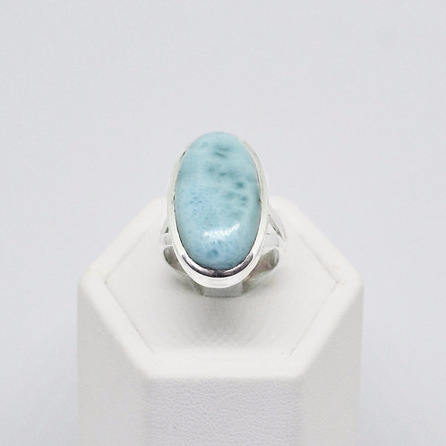 Sterling Silver Larimar Gemstone Statement Ring