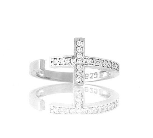 CZ Side-Cross Ring