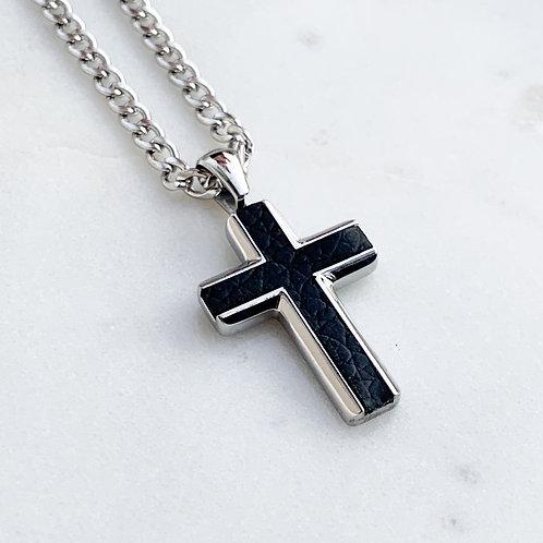 Blaze Leather & Steel Cross