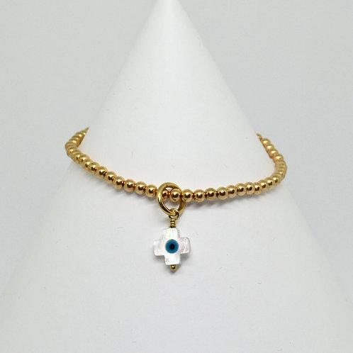 Mother of Pearl Cross Mati Bracelet