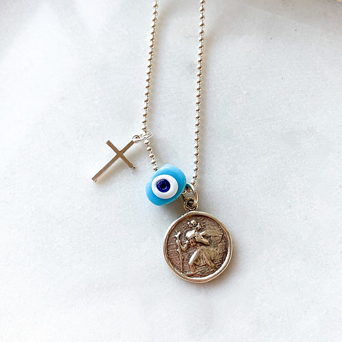 St Christopher Taxidi Necklace