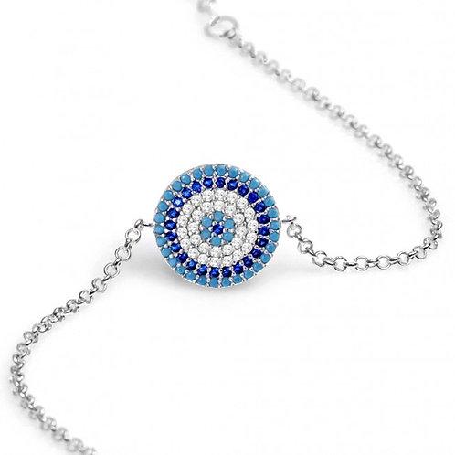 CZ Multi Blue Mati Bracelet