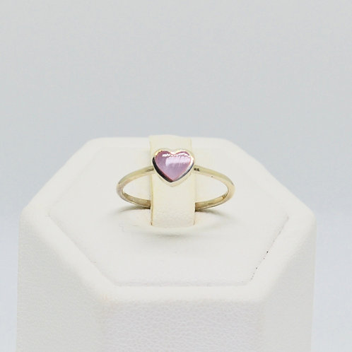 Pink Love Heart Ring