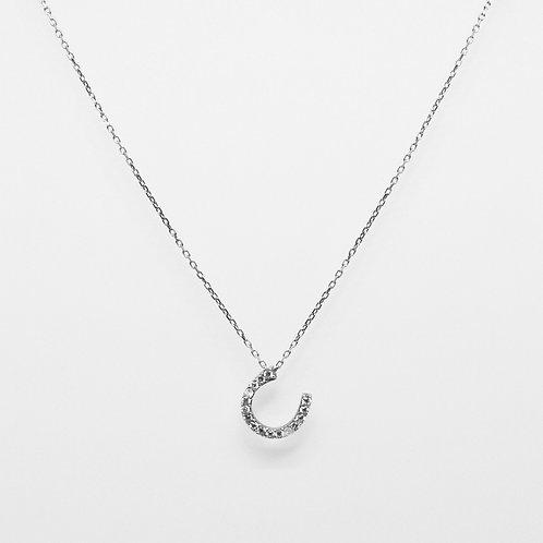 CZ Lucky Horseshoe Necklace