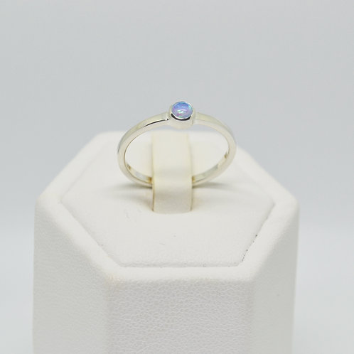 Mini Opal Solitaire Ring