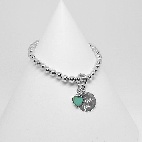 I Love You Heart Charm 5mm Bracelet