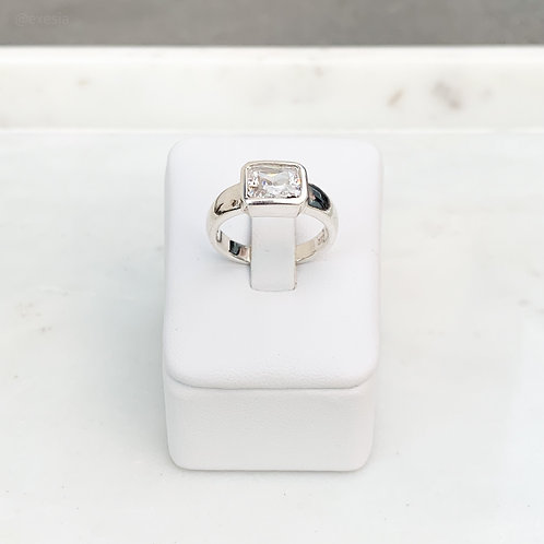 Rectangle CZ Ring