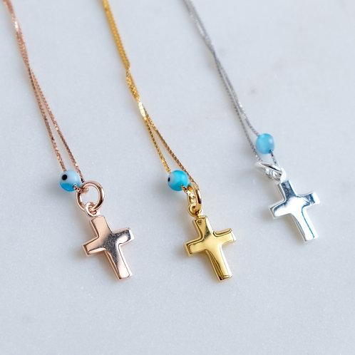 Myrina Cross Mati Necklace