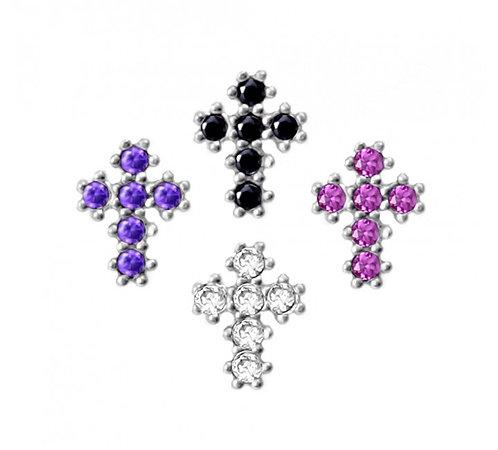 CZ Mini Cross  Studs