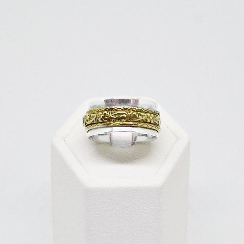 Sterling & Gold tone Spinner Ring