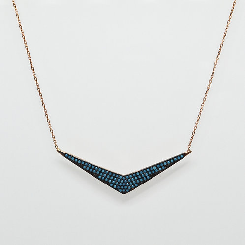 Turquoise Open 'V' Necklace