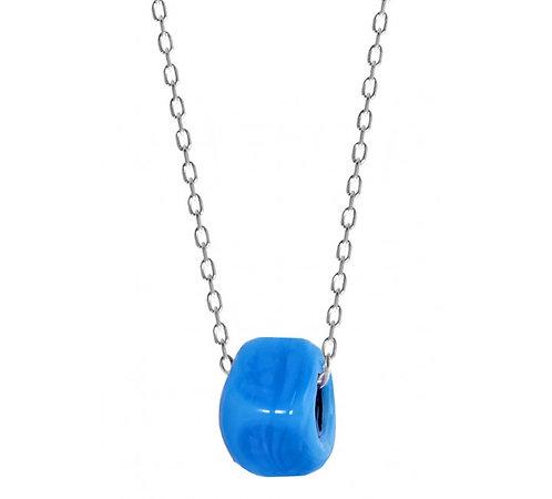 Handmade Turquoise Greek Bead Necklace