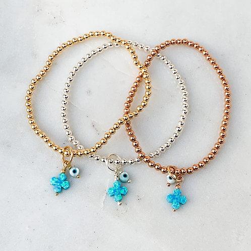 Turquoise Limnos Cross Mati Bracelet