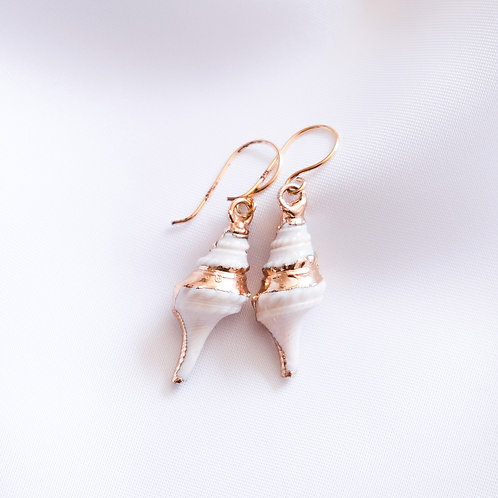 Spiral Shell Hook Earrings
