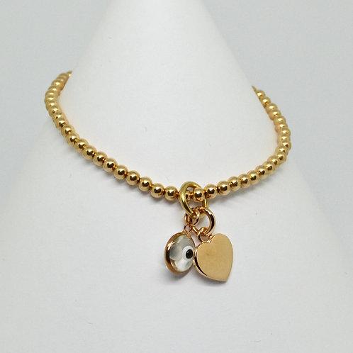 Heart & Mati Charm Bracelet
