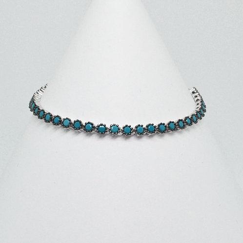 Turquoise Clawset Tennis Bracelet