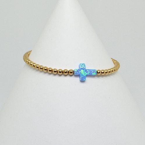 Opalite Side Cross Bracelet