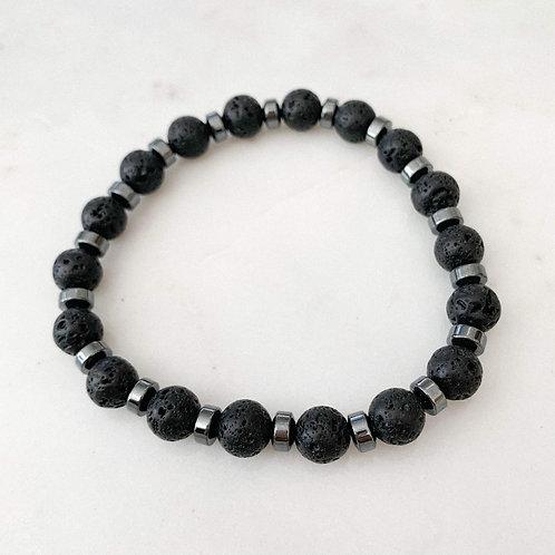 Lavalite Gemstone Bracelet
