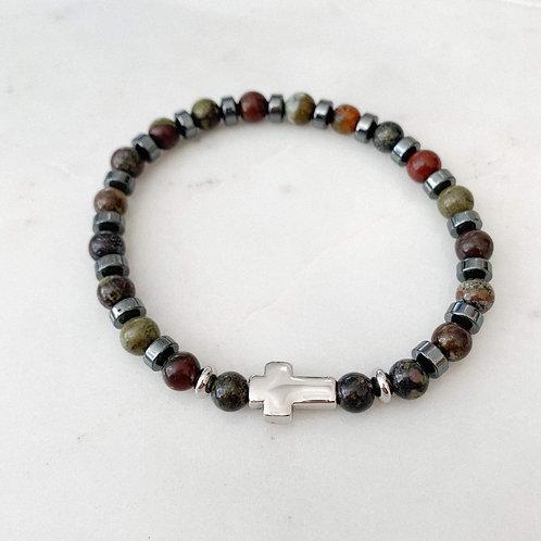 Odysseus Steel Cross Bracelet
