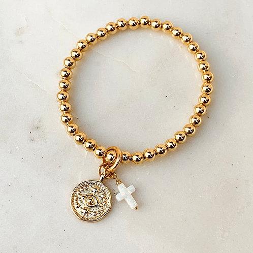 Egyptian Eye Cross Bracelet