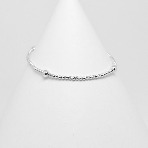 Silver 4x2mm Stacking Bracelet