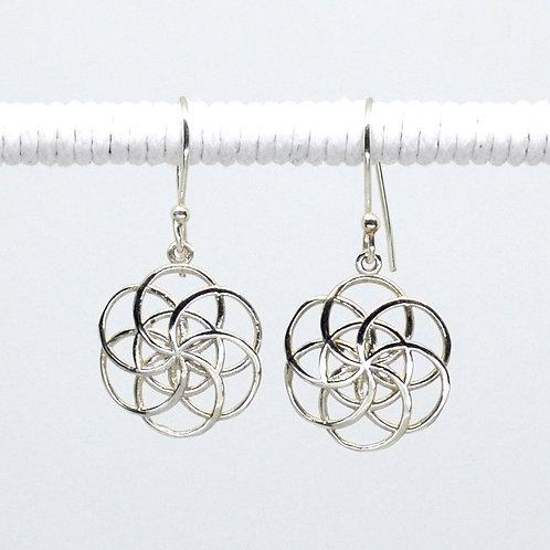 Filigree Flower of Life Earrings