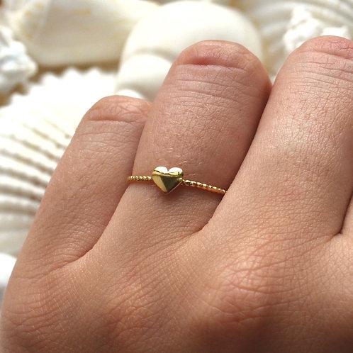 Mini Gold Heart Ring