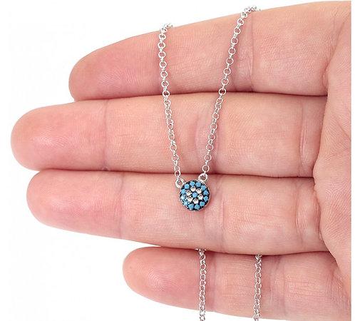 CZ Turquoise Mini Mati Necklace