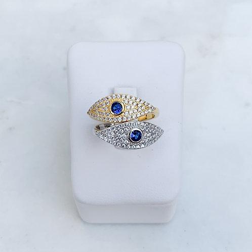 CZ Almond Eye Ring