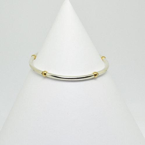Two Tone Tube Bracelet Small