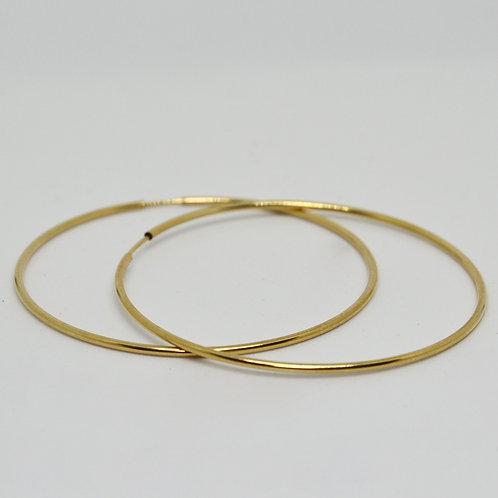 Yellow or Rose Gold Hoop Earrings