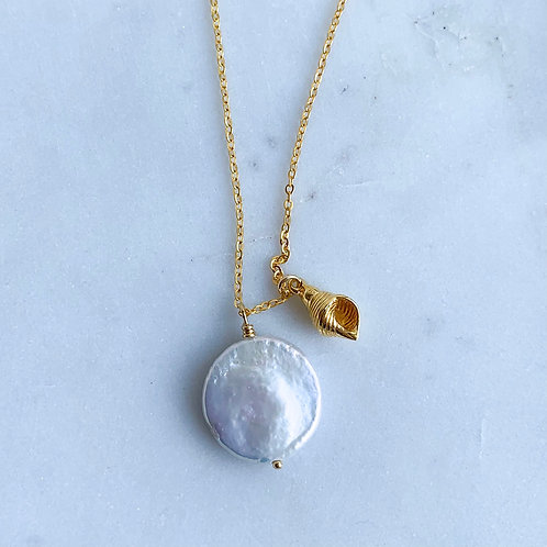 Cone Shell Pearl Necklace