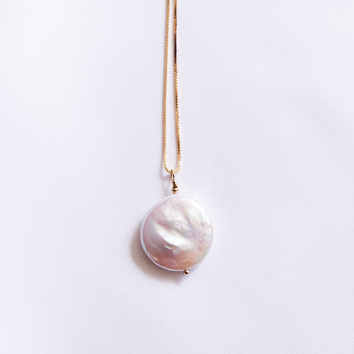 Keshi Disc Pearl Necklace