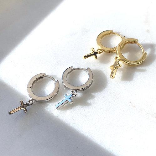 Mini Cross Hoops