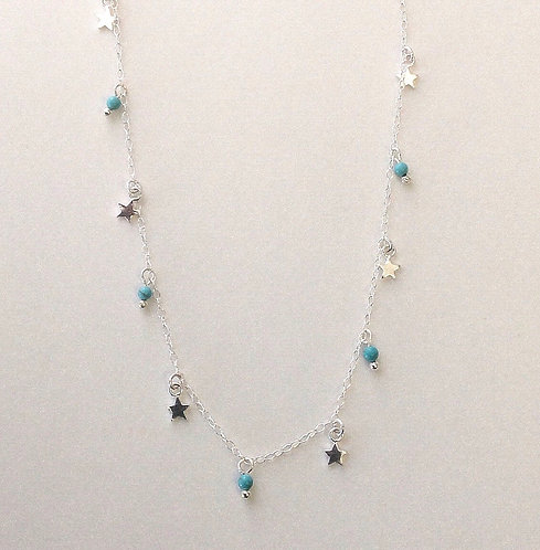 Turquoise Star Anklet