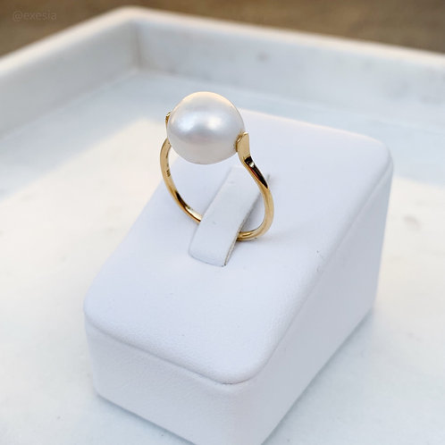 Freshwater Pearl Solitaire Ring